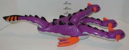 Fisher Price Mattel 2010 3 Headed Sea Serpent Monster Dragon Purple - $32.73