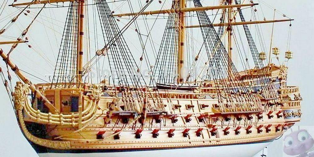 1/50 Luxury classic sail boat Wooden model kits San Felipe warship model image 3
