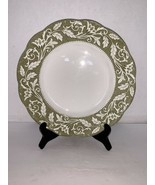 "J. & G. Meakin England Green Sterling Renaissance China Dinner Plate 10"" - $5.00"