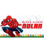 Spiderman Easter Basket Sticker, Waterproof and Personalized - $3.25+