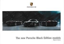 2016 Porsche BLACK EDITIONS brochure catalog US 911 CARRERA BOXSTER CAYMAN - $15.00