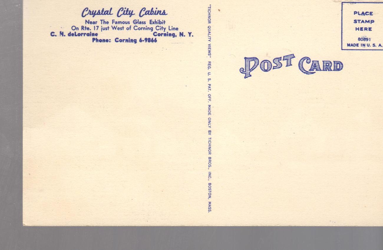 Crystal City Cabins,, Corning  New York (1940's)