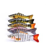 Fishing Wobblers 6 Segments Swimbait Crankbait Fishing Lure Bait with Ho... - $14.95