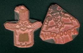 Lot 2 Unmounted Stamps Crazy Guys Magnet Back U... - $0.99