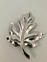 Vintage Silver Tone Maple Leaf Autumn Brooch Pin J0167 - $7.59