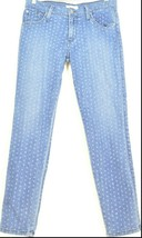 James Jeans SZ 31 Twiggy Ankle skinny muted polka dots USA - $17.81