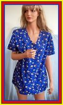 NWT New L Large Royal Dark Blue Monkey Banana Print SB Simply Basic Scrubs  - $16.99
