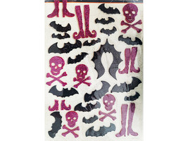 Making Memories Halloween Glittered Foam Icons Spook Alley Stickers #32653