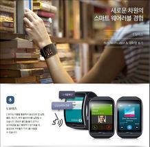 Genuine Samsung Galaxy gear S SM-R750 Curved AMOLED Smart Watch Black Wi-Fi image 5