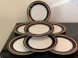 Rosenthal Germany Eminence Cobalt Blue Salad Plates Set of 9 - $199.00