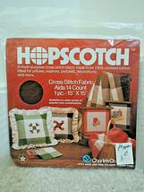 "Charles Craft Hopscotch Cross Stitch Fabric Aida 14 Count 1 Pc 15"" X 15"" Sealed - $6.99"