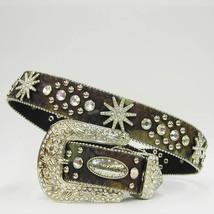 XS S M L or XL Oak Camo Spur Rhinestone Western Cowboy Girl Buckle Belt ... - $74.99