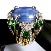Victoria Wieck Kyanite Chrome Diopside Topaz 2-Tone Ring  Size 8 - $179.91