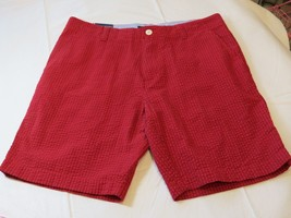 "Tommy Hilfiger Mens Shorts Casual 78C4915 935 Red 34 9"" Inseam NWT - $38.11"