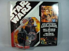 Star Wars Darth Vader Figure W/30 Th Annersary Coin Album  - $18.09