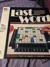 Vintage Last Word Family Board Game Milton Bradley 1985 Complete - $15.95