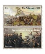 2015 49c Civil War 1865 Battle of Five Forks Appomattox Scott 4980-81 Mi... - $54,43 MXN