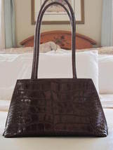 Furla Brown Leather Croc Embossed Techno Shopper Tote - $95.00