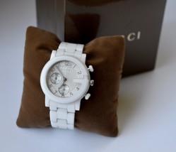 b23eb175172 Gucci G-Chrono White Ceramic  amp  Stainless Steel Unisex Watch -  985.00