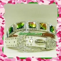 NEW XS S M L XL Creamy White Rainbow Sq Concho Buckle Western Cowgirl Bo... - $74.99