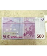 2002 500 EURO BANKNOTE NETHERLANDS GERMANY FRANCE P14000300875 COLLECTIBLE  - $682.11