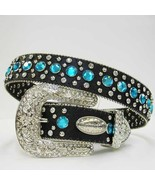 XS S or M Black HAIR  Blue Rhinestone Row Western Buckle Cowgirl Boy Rod... - $74.99