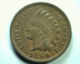 1896 S7 1/1 (N) 1896/1896 (W) Indian Cent Penny Choice About Uncirculated Ch. Au - $195.00