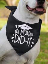 Pet Bandana Black, Slogan Graphic Graduation, Dog Bandana, Cat Bandana - $12.60