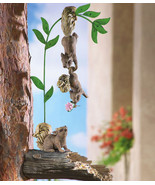 Set Of 3 Hanging Squirrels Tree Bid Feeder - $21.95