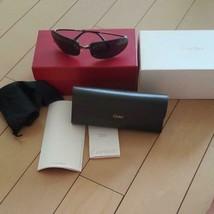CARTIER Men's sunglasses Black lens with case Unused Used - $365.30