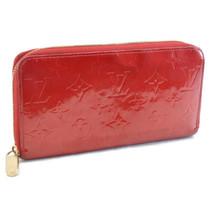 LOUIS VUITTON Vernis Zippy Wallet Long Wallet M91981 Pomme Rouge LV Auth... - $180.00