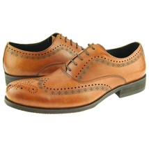 Wing Tip Brogues Toe Brown Color Genuine Leather Classical Men Lace Up Shoes - $139.90+