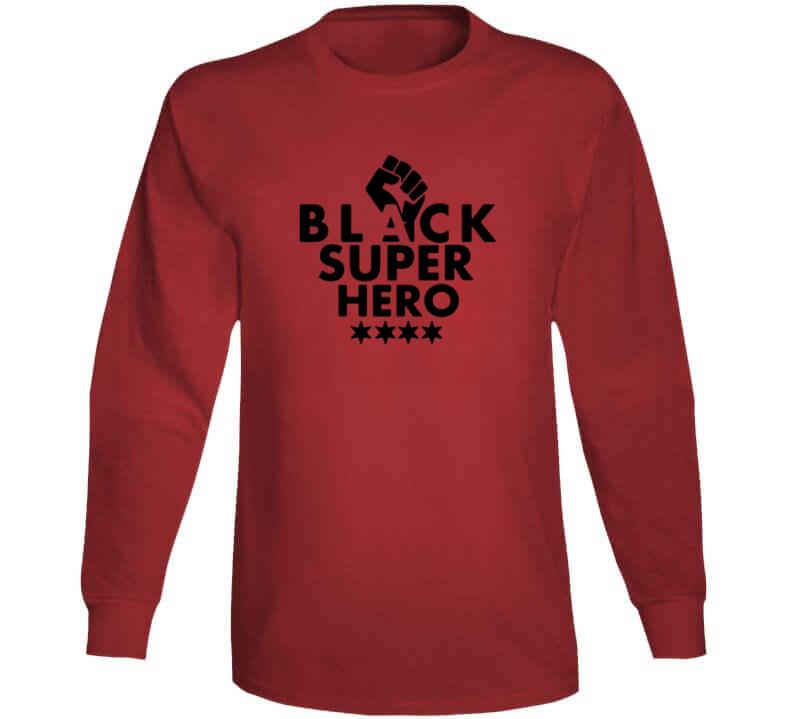 Black Super Hero - Heavy Metal Long Sleeve