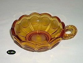 Fostoria Coin Glass Amber Handled Nappy - $11.95