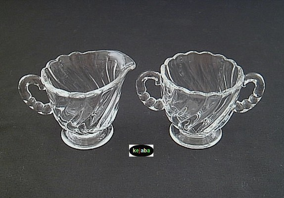 Primary image for Fostoria Colony Crystal Individual Creamer & Sugar