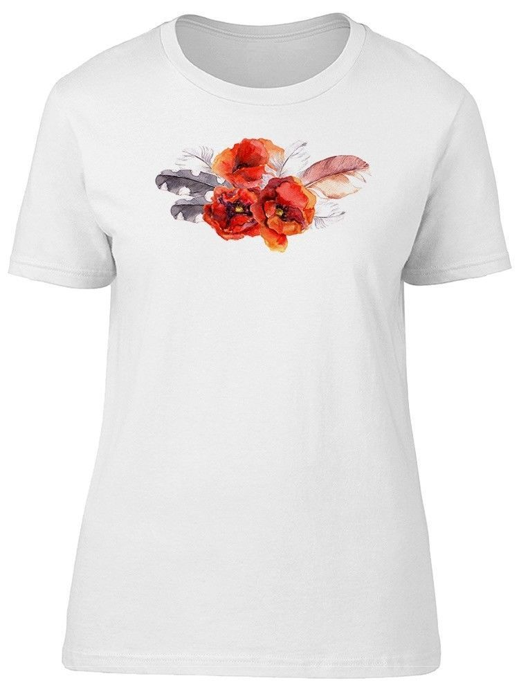 Primary image for Poppy Flower With Feathers Women's Tee -Image by Shutterstock