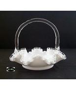 Fenton Silver Crest 7336 Sc Handled Basket - $18.95