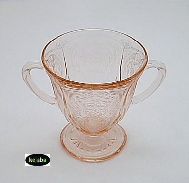 Royal Lace Pink Sugar Bowl Hazel Atlas image 2