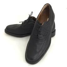 Salvatore Ferragamo Wingtip Golf Shoe Women 7 Black Leather Sole Made in Italy  - $99.00