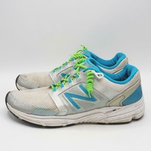 New Balance 3040SB1 Running Shoes Womens Size Size 9 White-Blue-Silver Sneaker - $24.74