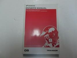2005 Honda TRX450R Propietarios Operadores Owner Tienda Manual Fábrica Nuevo - $54.31