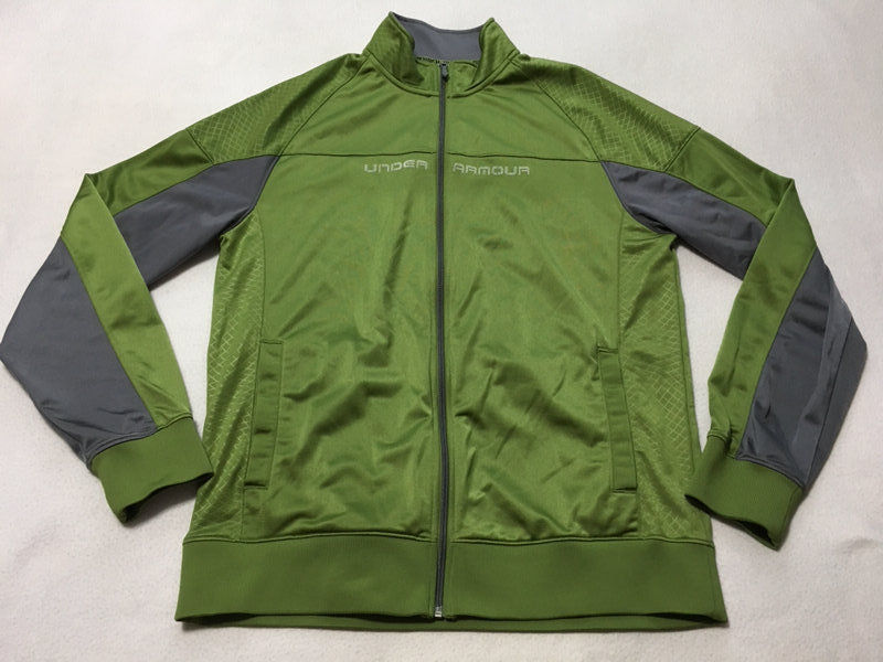 Primary image for Under Armour XL Extra Large Green Gray Emilystic Lightweight Jacket Front Zip