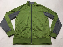 Under Armour XL Extra Large Green Gray Emilystic Lightweight Jacket Fron... - $24.99