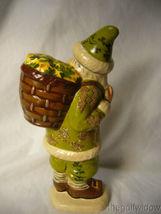 Vaillancourt Folk Art Irish Santa with Basket O' Luck Signed no. 20017 image 3