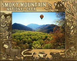 Smoky Mountain National Park Montage Laser Engraved Wood Picture Frame (... - £23.15 GBP