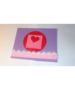 Single Purple cardstock heart flat mattboard card with lace +1 A Free gift  - $4.95