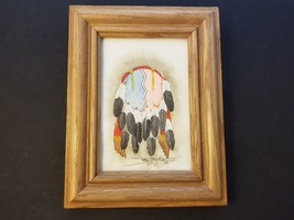 Terry Yazzie Signed & Framed Feather Dream Catcher Watercolor Native 200... - $116.35