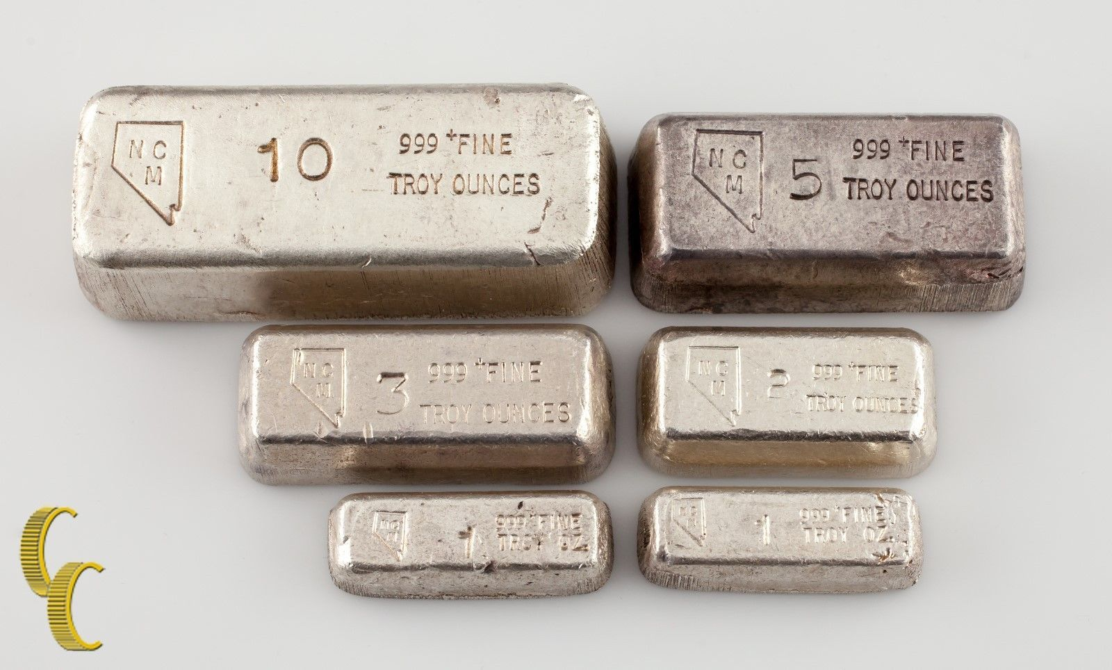 Nevada Mint Silver Bar Collection 22 Oz Total 1 2 3 5