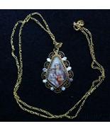 19th Cent Hand Painted Miniature Mary & Jesus Sacred Heart Filigree Fram... - $397.98