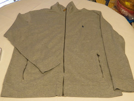 Polo Ralph Lauren zip up jacket LT Tall Mens Estate Rib 4003 Andver Heather grey - $52.38